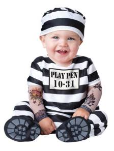 Convict Fancy Dress Costume For Babies