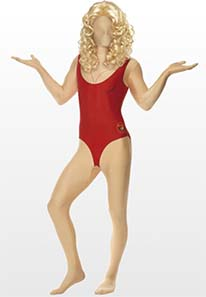 Baywatch Second Skin Fancy Dress Costume