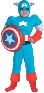 Kids Captain America Fancy Dress Costume