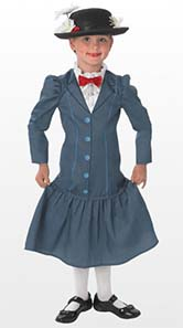 Mary Poppins Fancy Dress Costume For Book Day