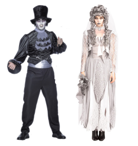 Dead Bride And Groom Fancy Dress Clothes
