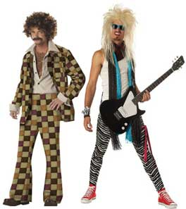 Mens Fancy Dress Costumes From The 70s and 80s