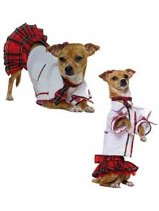 Schoolgirl Fancy Dress Outfit For Dogs