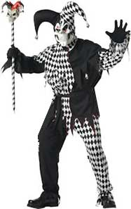 Evil Jester Clown Costume