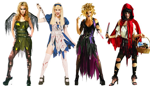 Female Horror Movie Characters Fancy Dress Costume