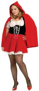Full Figure Red Riding Hood Fancy Dress Costume