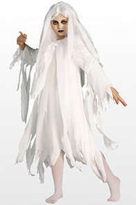 Budget Ghost Fancy Dress Costume For Girls