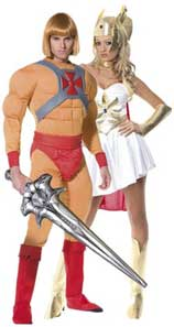 He-Man and She Ra Fancy Dress Costumes