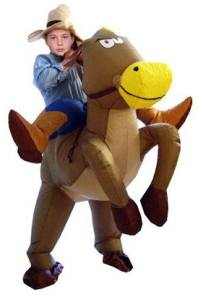 Inflatable Horse And Jockey Fancy Dress Costume For Children