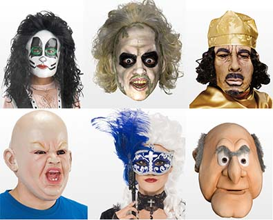 Masks To Complete Fancy Dress Costume