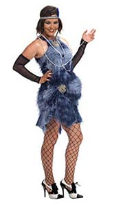 Maternity Flapper Fancy Dress Costume