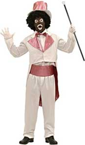 Black and White Minstrel Costume