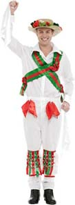Morris Dancer Fancy Dress Costume For St Georges Day