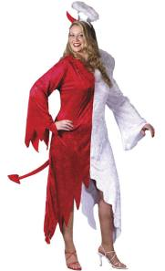 Naughty And Nice Plus Size Fancy Dress Costume For Pregnant Women