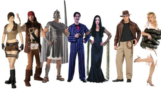 fancy dress clothes with a film theme