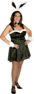 Ladies Plus Size Fancy Dress Costume Bunny Girl