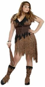 Plus Size Cavewoman Fancy Dress Costume
