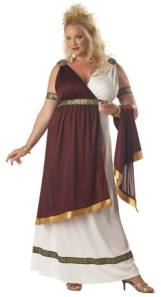 Plus Size Roman Empress Fancy Dress Costume