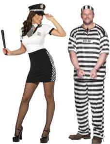 Police Woman And Convict Fancy Dress Costumes