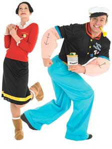 Popeye And Olive Oyl Fancy Dress For Couples
