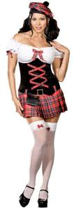 Sassy Lassie Scottish Girl Fancy Dress Costume