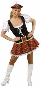 Scottish Sassy Lassie Fancy Dress Clothes