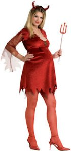 Sexy Devil Maternity Fancy Dress Clothes For Pregnant Women