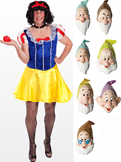 Drag Snow White Fancy Dress Costume - great for stag night