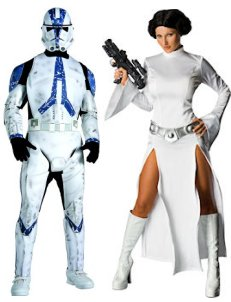 Star Wars Fancy Dress Costumes Princess Leila And Star Wars Stormtrooper