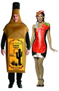 Tequila Bottle And Margarita Cocktail Fancy Dress Costumes