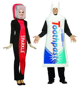 Toothbrush And Toothpaste Tube Fancy Dress Clothes