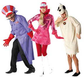 Wacky Races Fancy Dress Costumes Penelope Pitstop Dick Dastardly Muttley Costumes