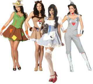 Wizard of Oz Theme Fancy Dress Costumes For Women